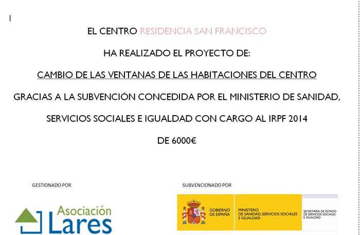 Subvención IRPF
